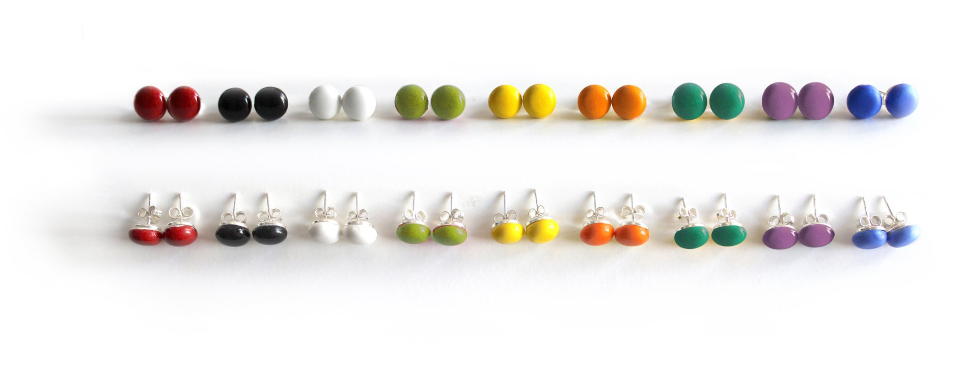 Ceraselle Ceramic Studs - 8 Colours