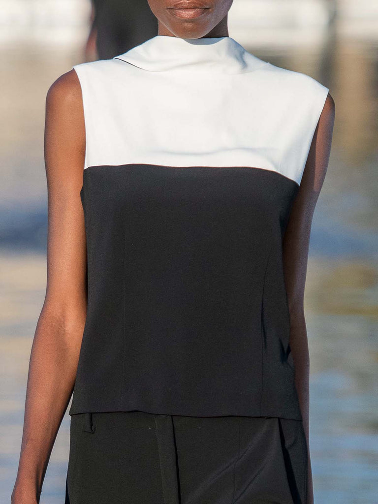 Annette Görtz Monochrome Sleeveless Blouse