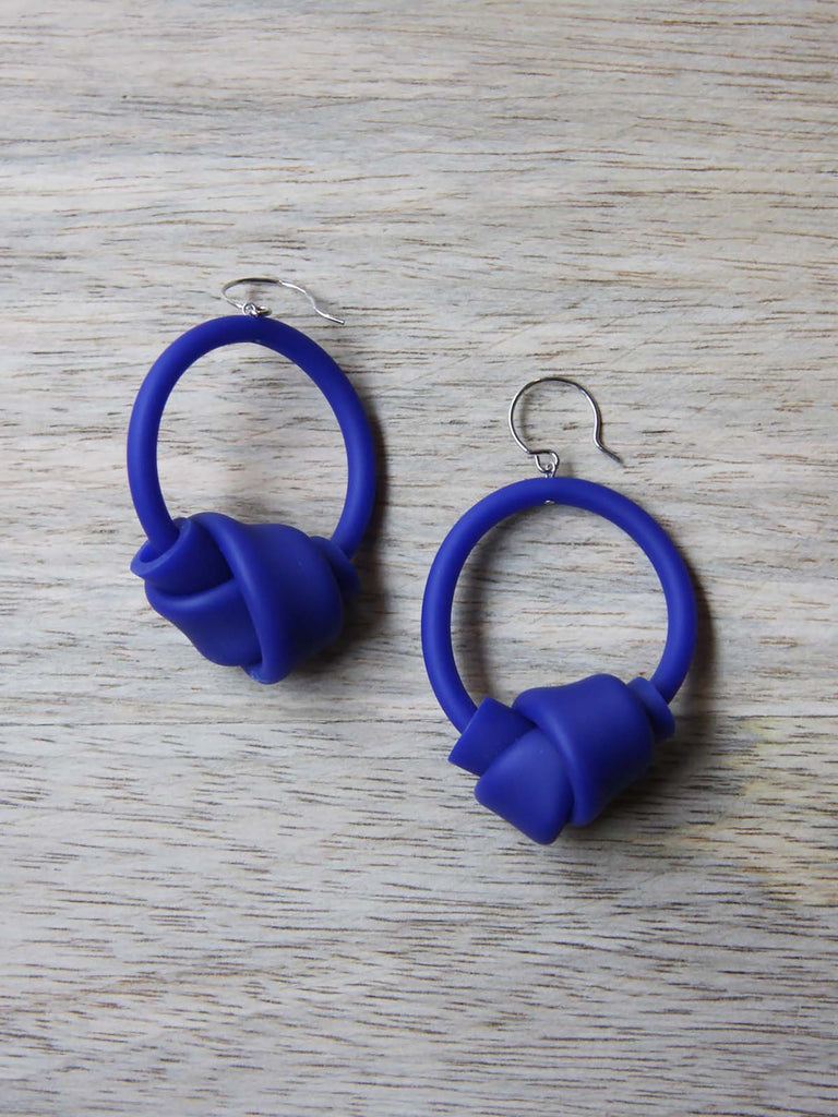 Samuel Coraux Hoops Earrings - Royal Blue