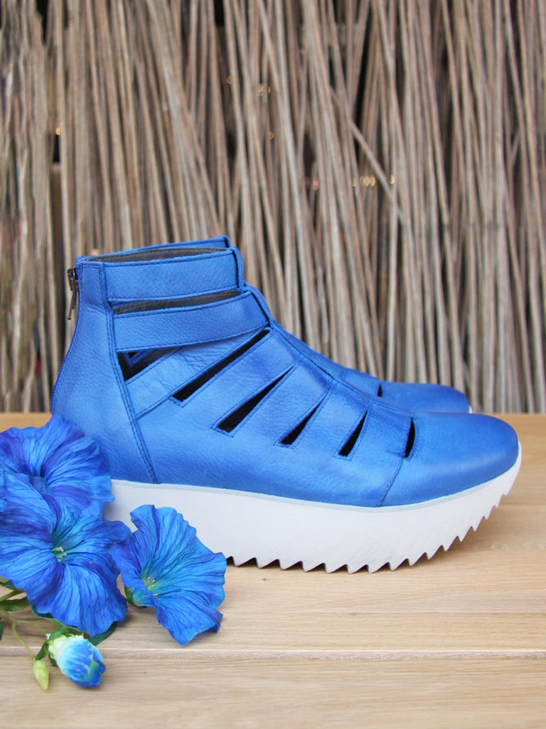 Lofina Platform Sandals - Royal Blue