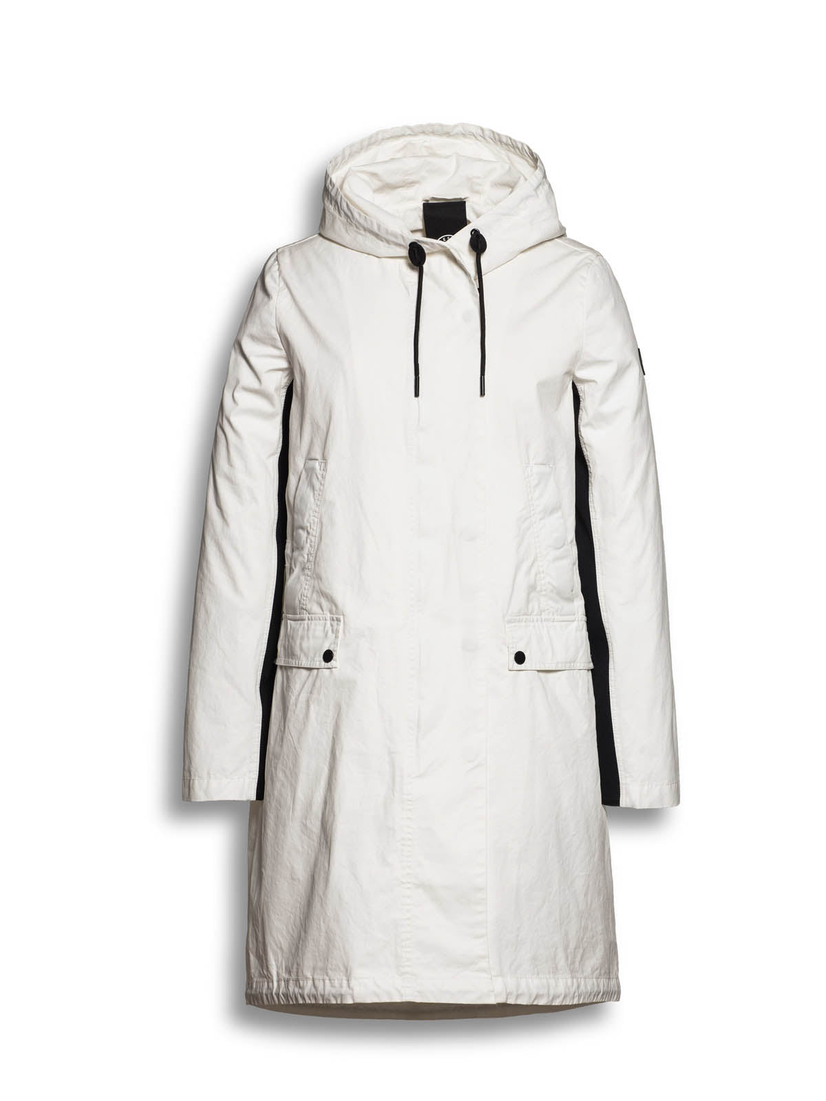Reset Parka Coat in White, Coats, Reset, Blue Women - Blue Women's Clothing