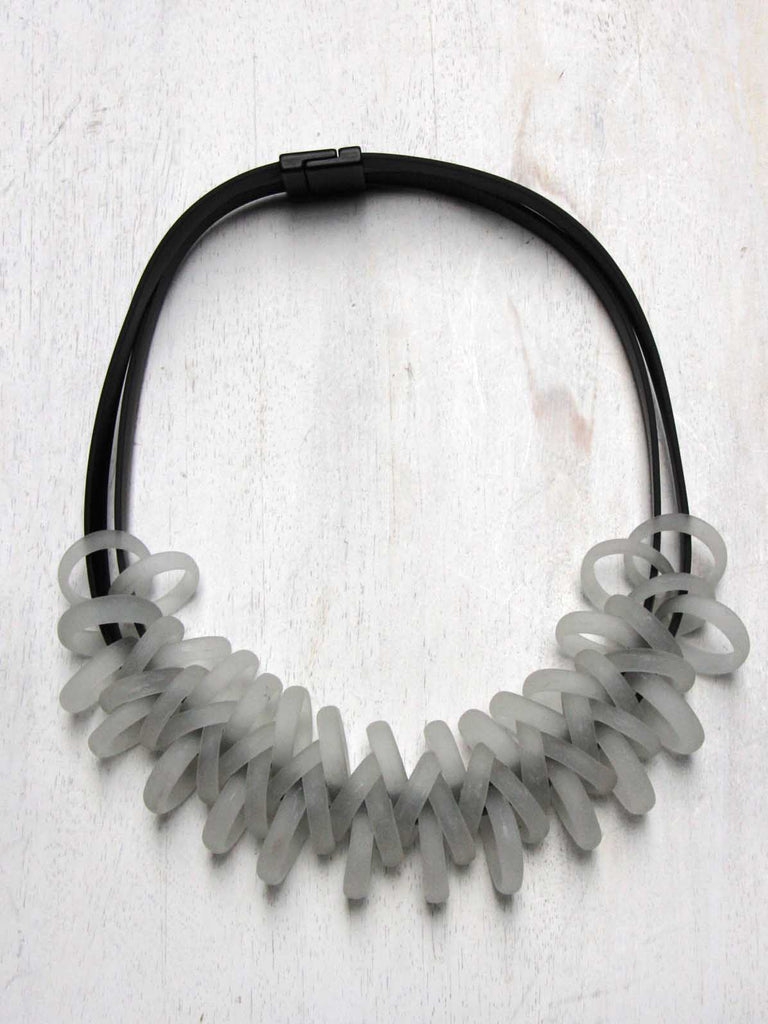 Samuel Coraux Glass Rings Necklace - Frost
