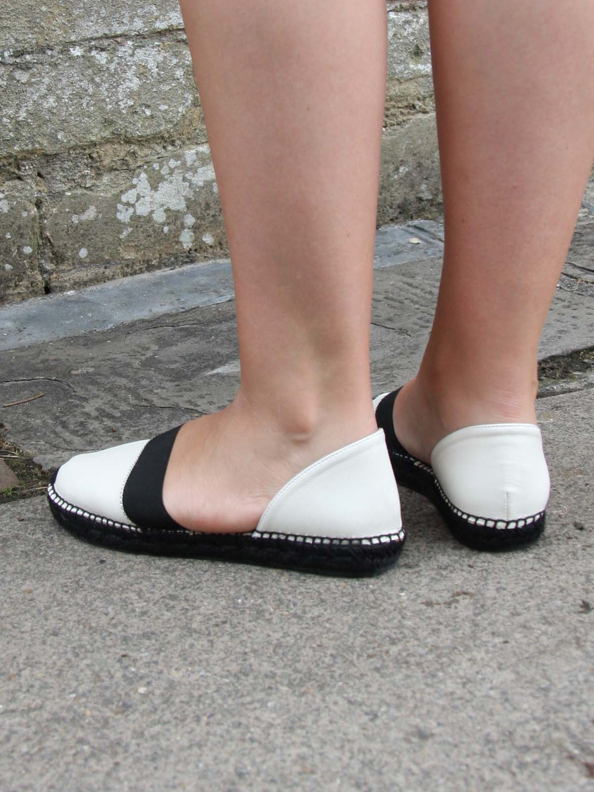 GAIMO Black and White Slip Ons, Footwear, Gaimo, Blue Women - Blue Women's Clothing