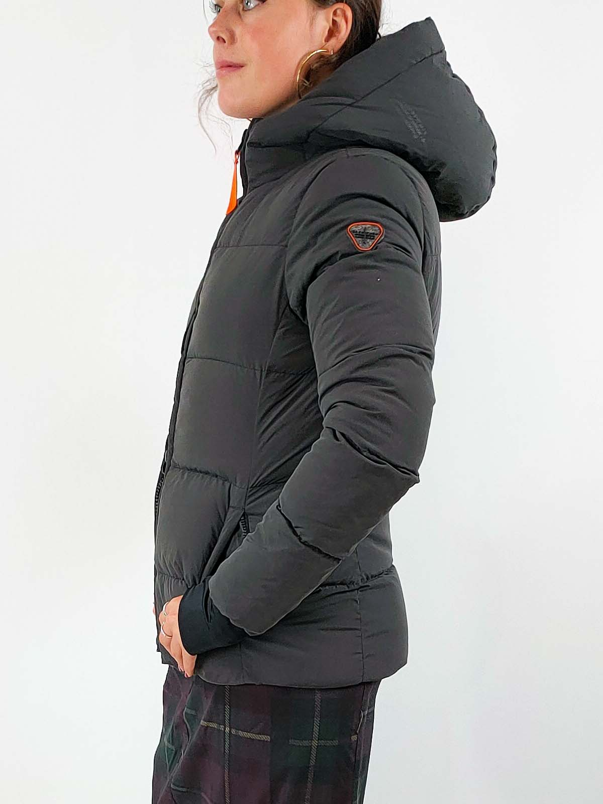 Gertrude + Gaston Padded Coat [DIANE] in Charcoal Black
