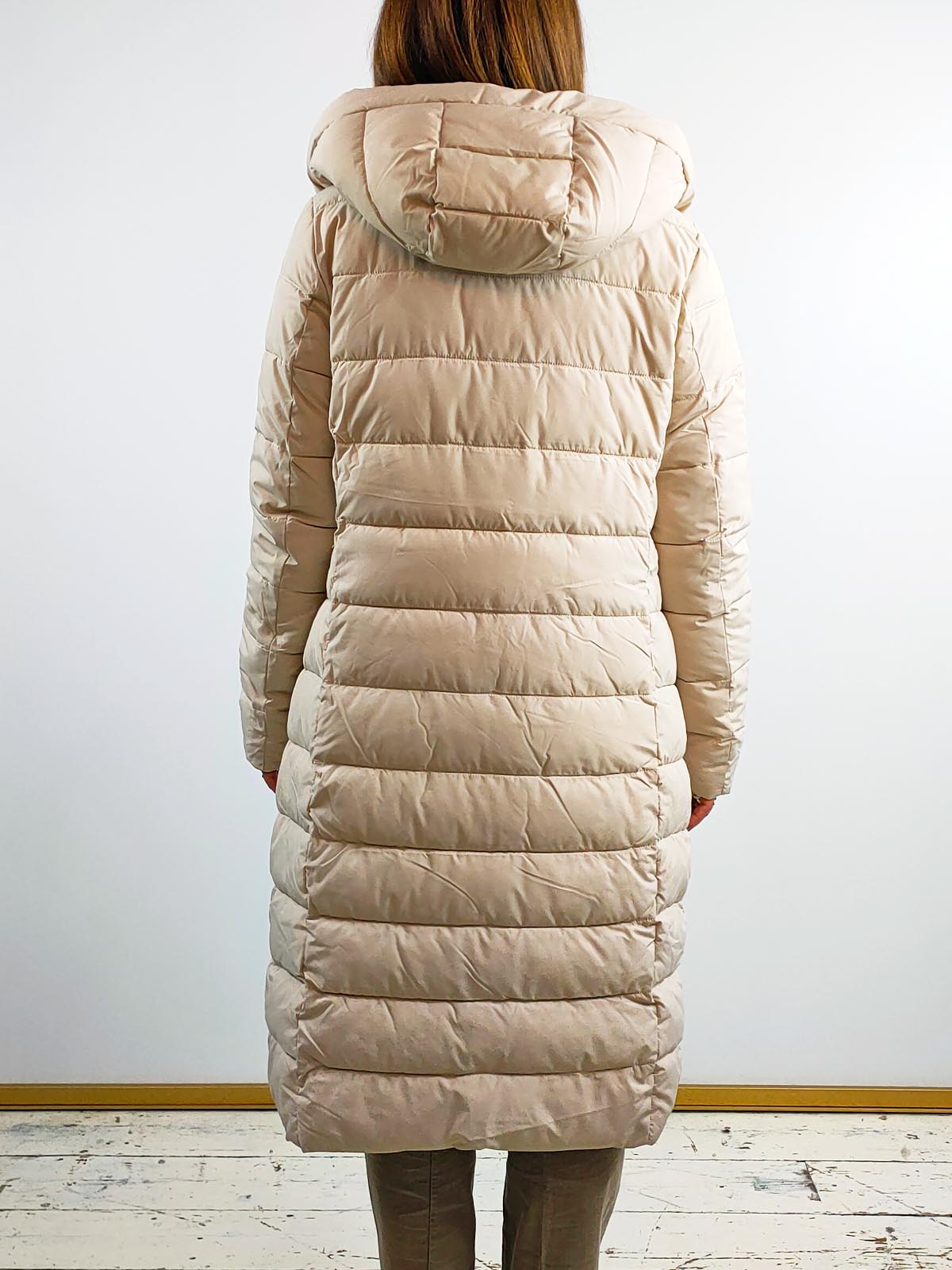 Rino + Pelle Long Padded Coat [Leroux] Sand