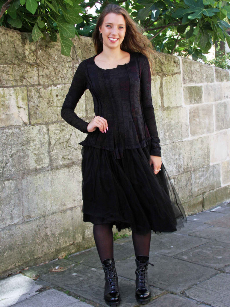 Rundholz Black Label Long Sleeve Net Dress