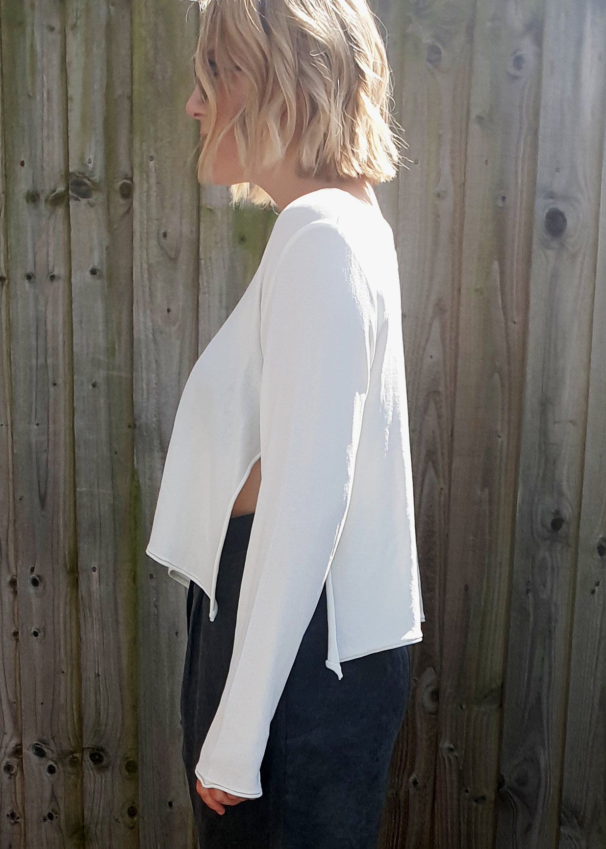 NOOK 'CLOE' JUMPER WITH SIDE SLIT- 2 COLOURS, Tops, Nook, Blue Women - Blue Women's Clothing