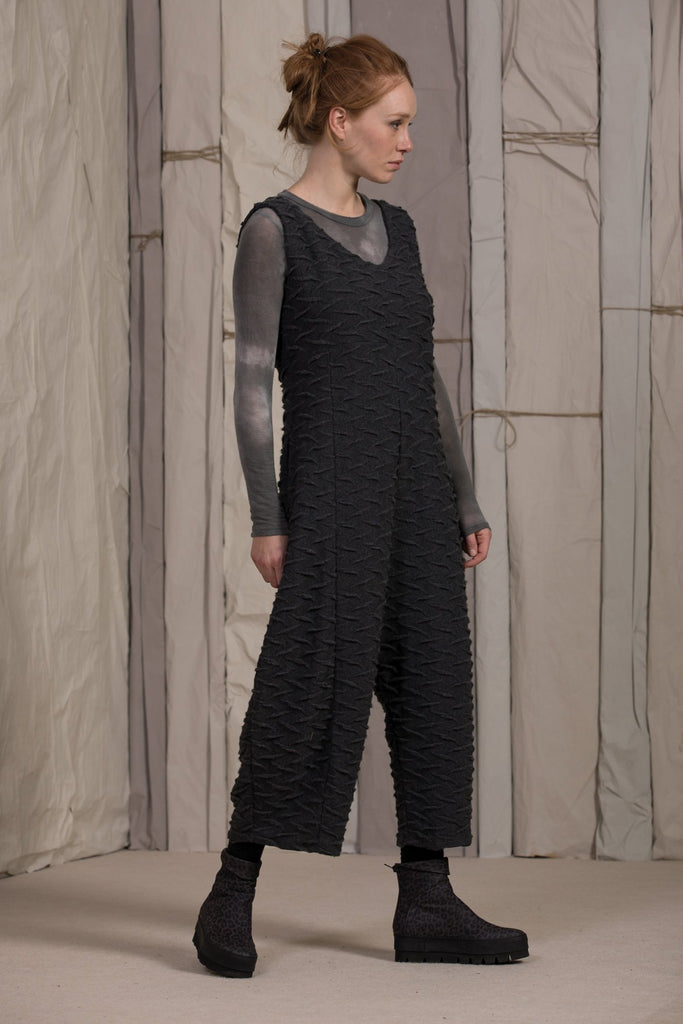 Neirami Textured Jumpsuit  [B28] - Shell Grey