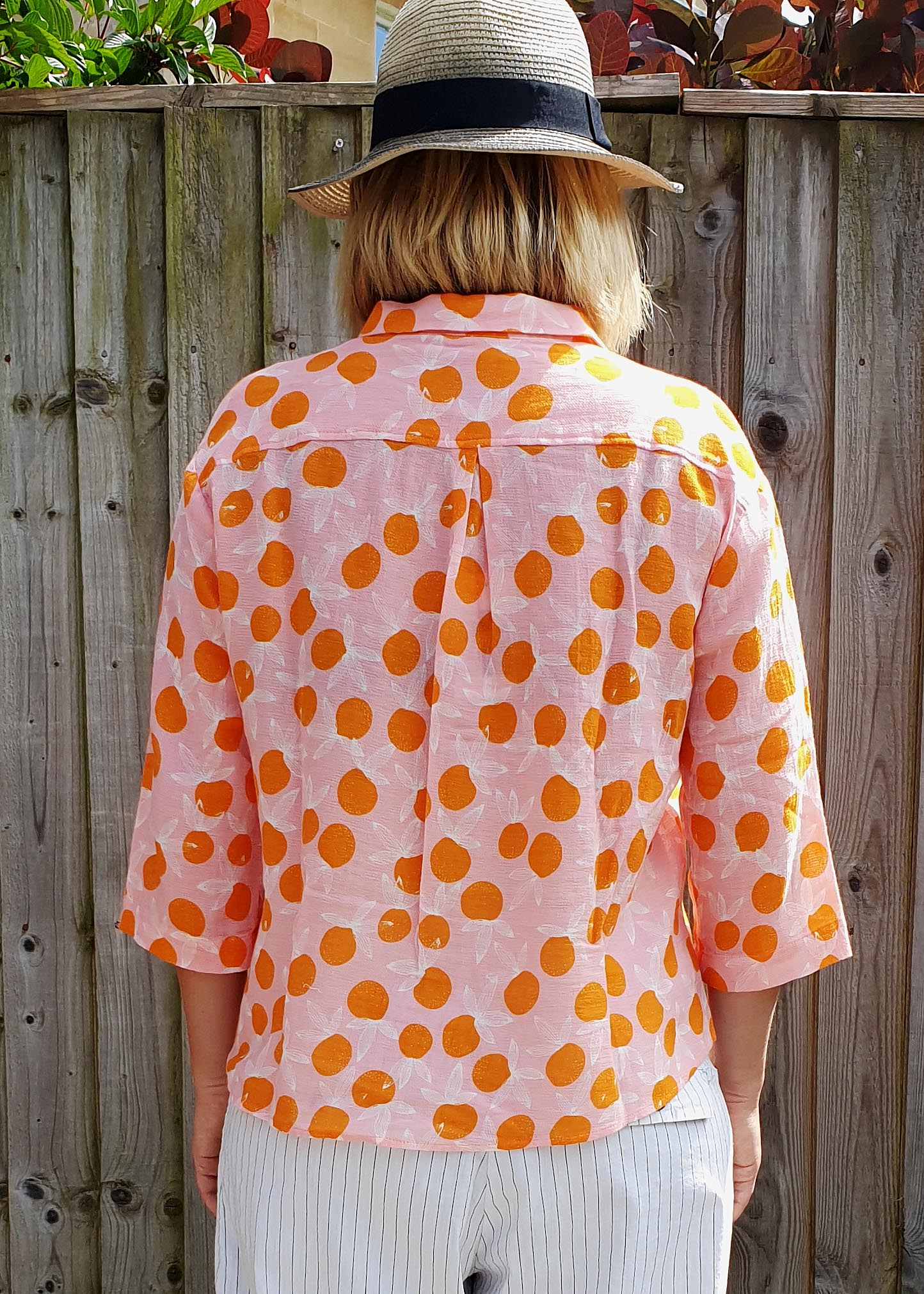 Sacré Coeur Orange & Pink Polka Dot Shirt, Shirts, Sacre Coeur, Blue Women - Blue Women's Clothing