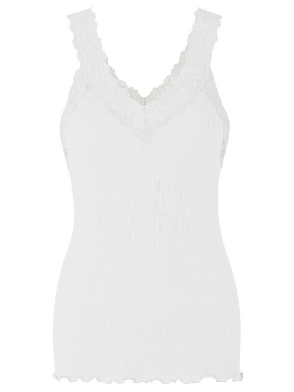 Rosemunde Organic Cotton V-Neck Vest - White or Black