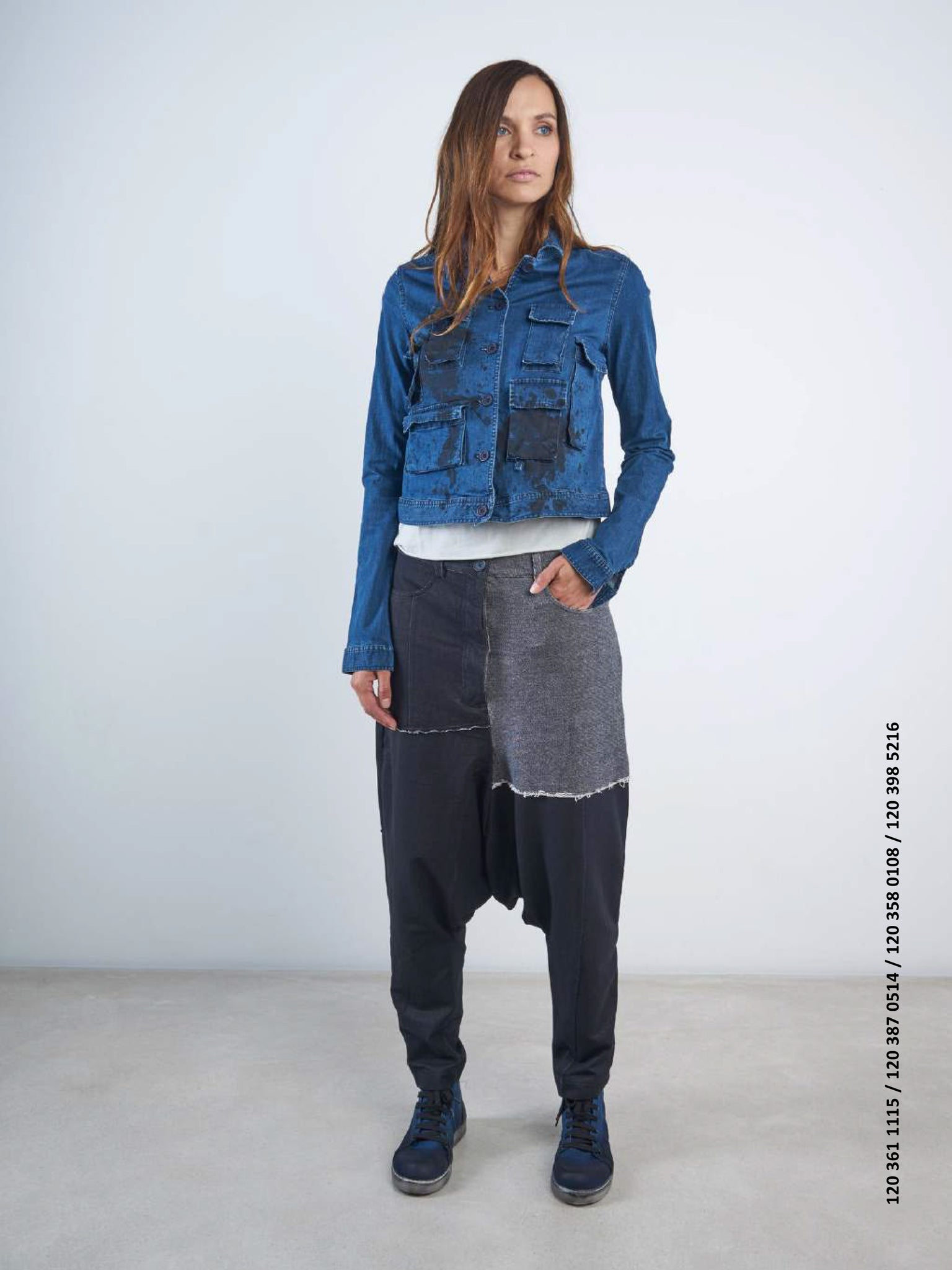 Rundholz Black Label Denim Look Patchwork Pants, Trousers, Rundholz, Blue Women - Blue Women's Clothing