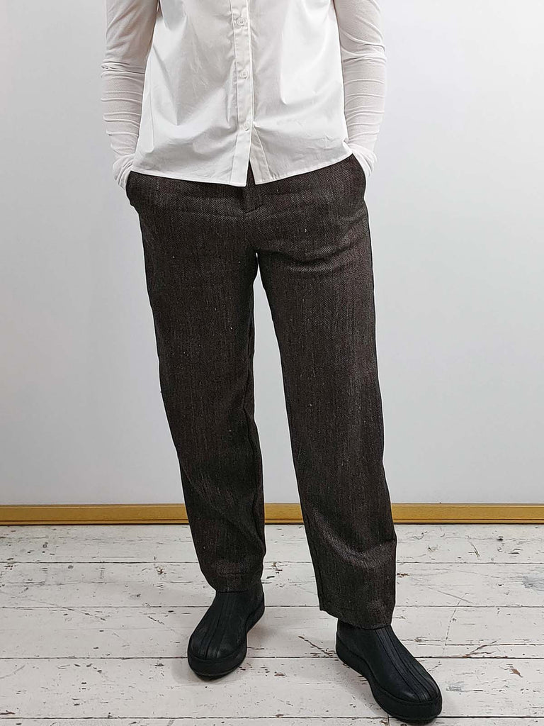 Transit Herringbone Suit Trousers [B110]