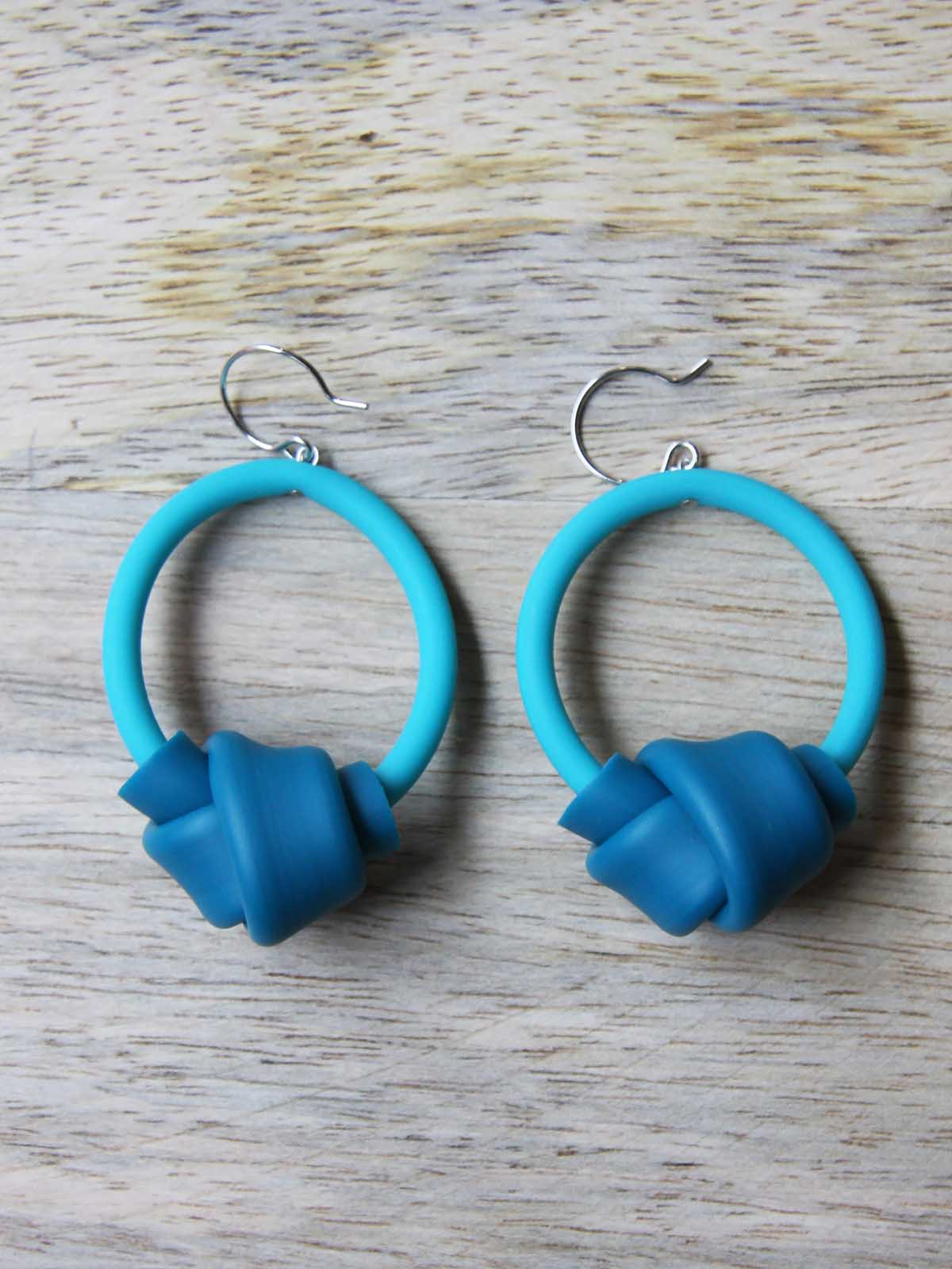 Samuel Coraux Hoops Earrings - Turquoise