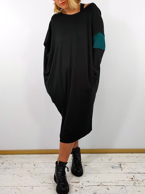 XD Xenia Design Tapered Dress [BEAK] - Black with Teal