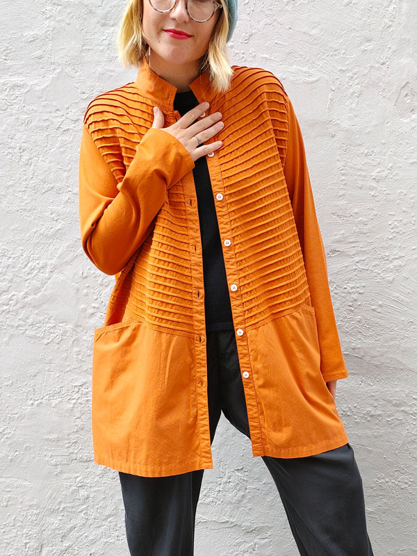Yacco Maricard Midi Shirt - Orange, Shirts, Yacco Maricard, Blue Women - Blue Women's Clothing