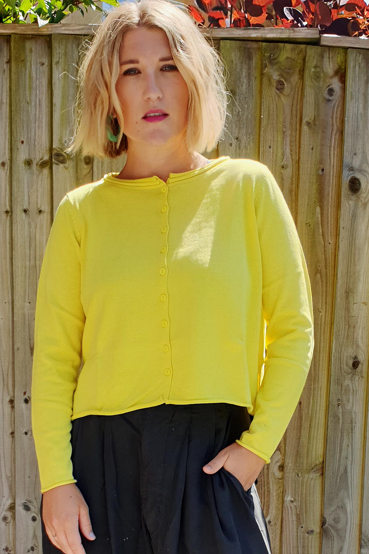 YELLOW LABEL Cardigan- 4 Colours, Cardigan, Yellow Label, Blue Women - Blue Women's Clothing