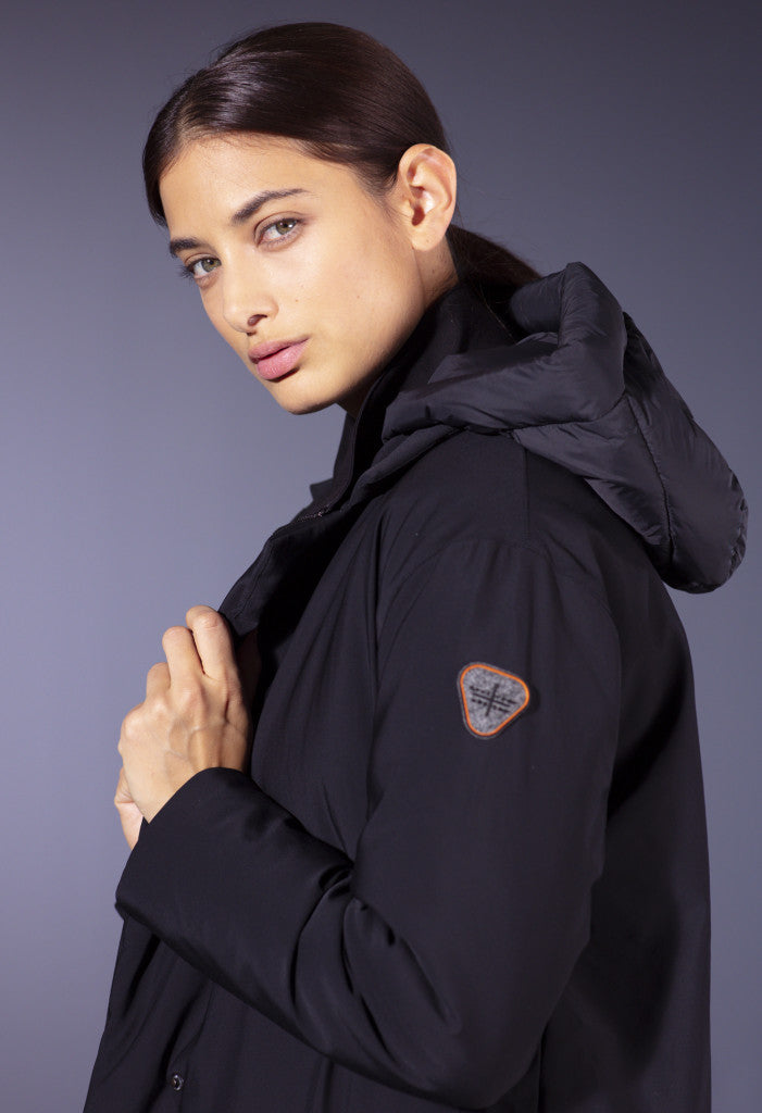 Gertrude + Gaston Padded Coat [ESTHER] - Black