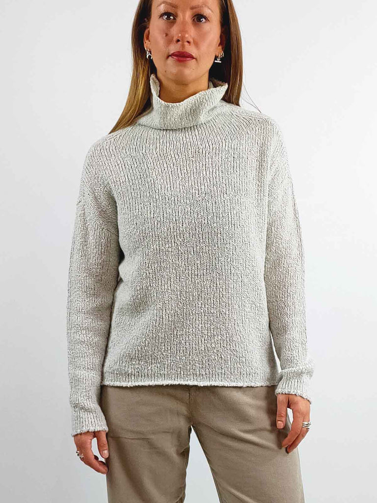 Transit Woollen Turtleneck Jumper [14490] - Putty