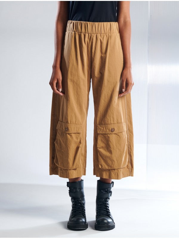 Lurdes Bergada Wide Leg Cropped Linen Trousers in 2 Colours