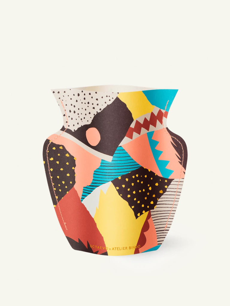 Octaevo Waterproof Paper Vase [VESUVIO] Multicoloured