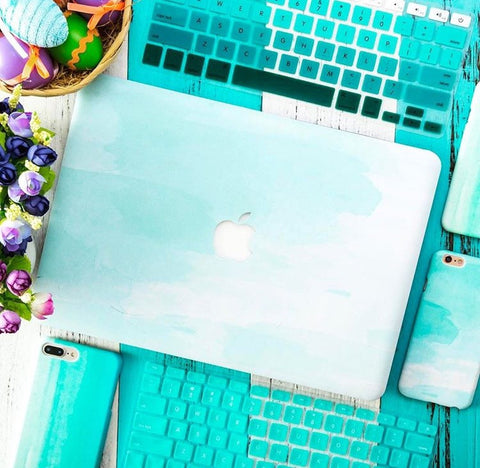 Mint Green Splash MacBook Pro Case
