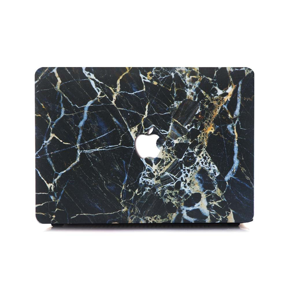 Black X White X Gold Marble MacBook Pro Case