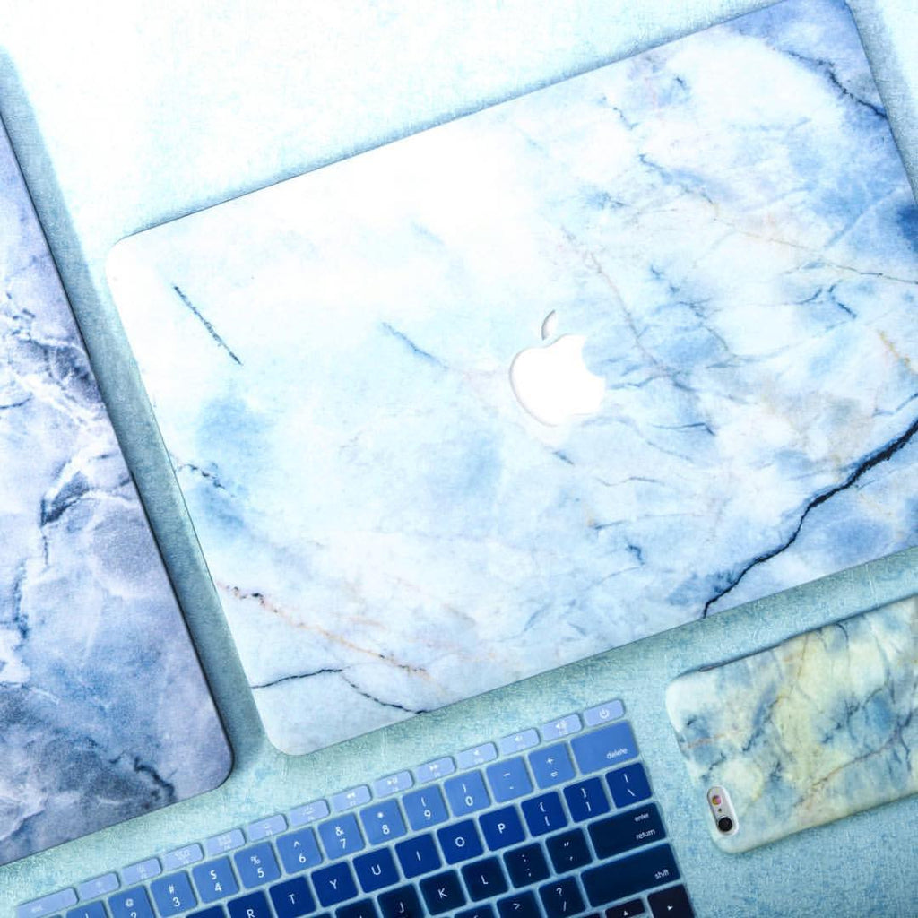 Splash of Blue X Gold Marble MacBook Pro Case