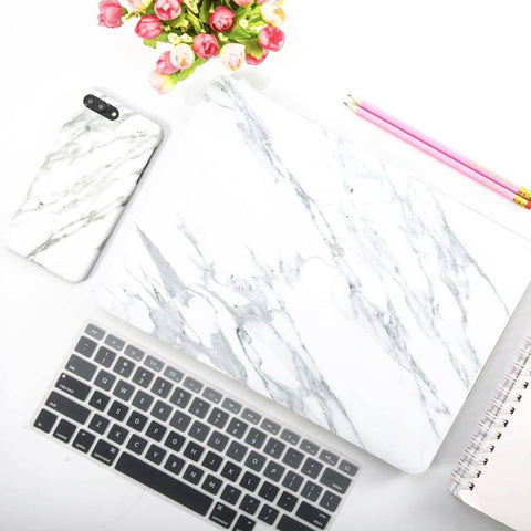 Black X White Marble MacBook Pro Case