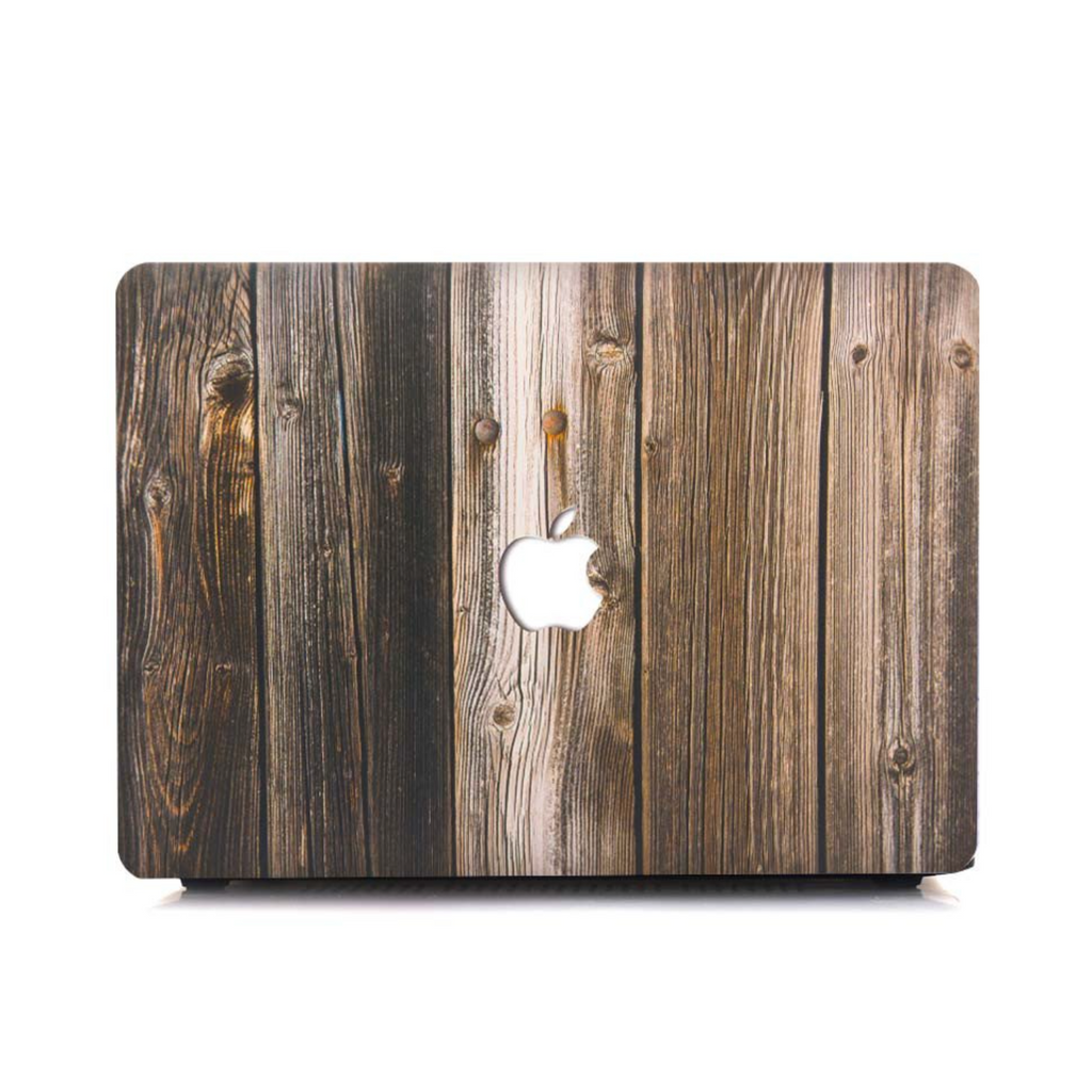 Dark Wooden Print MacBook Pro Case