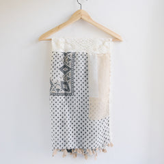 Bohemian Square Lace Scarf with Tassels - Bulan Design  - 17