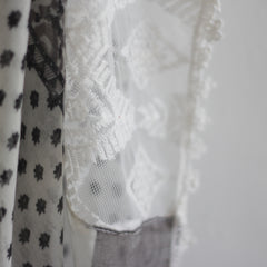 Bohemian Square Lace Scarf with Tassels - Bulan Design  - 5