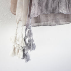 Rania Ombre Shawl with Tassels - Bulan Design  - 7