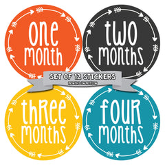 Baby Month Stickers 12 Monthly Milestone Stickers for Baby Boy - Monthly Baby Sticker