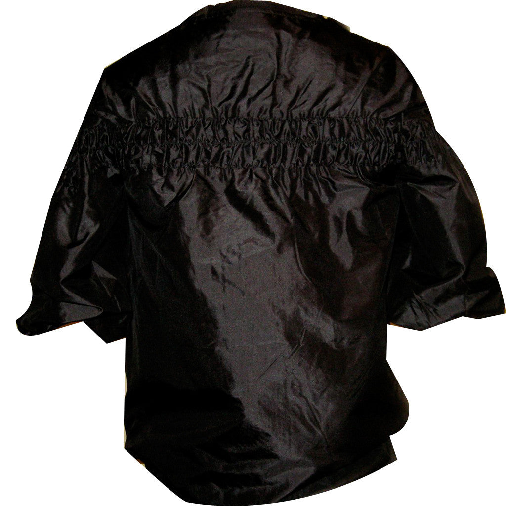 Bombay Black Silk Jacket - Shubrah