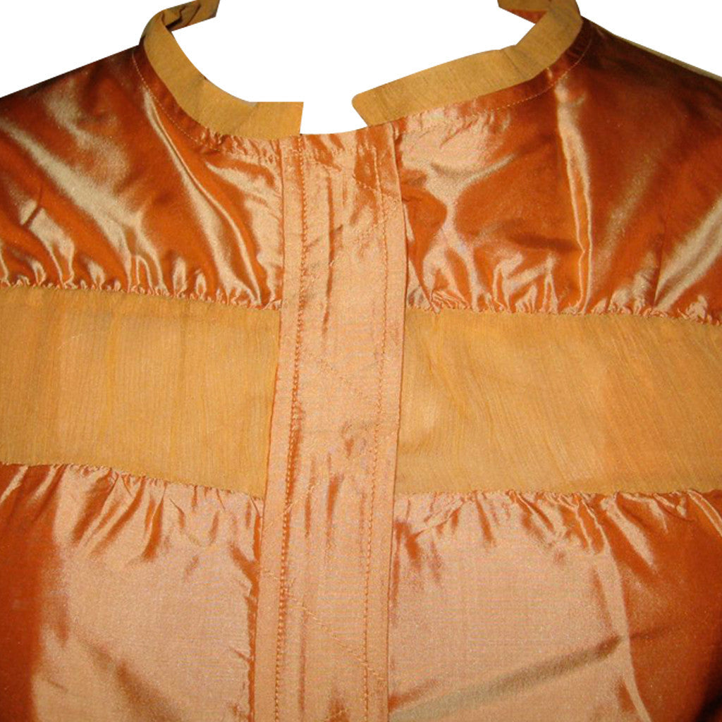 Bombay Burnt Orange Silk Jacket - Shubrah