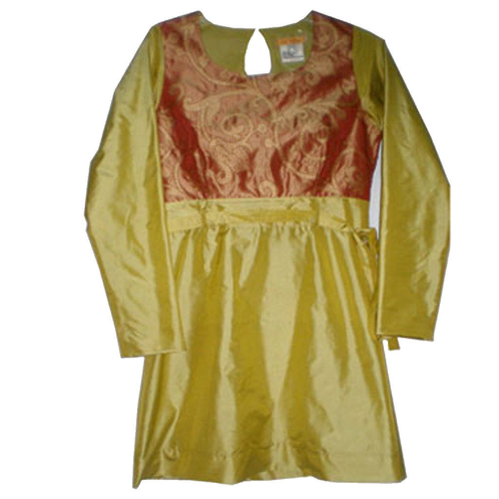 Henna Green Leaf Kurta Dress - Shubrah