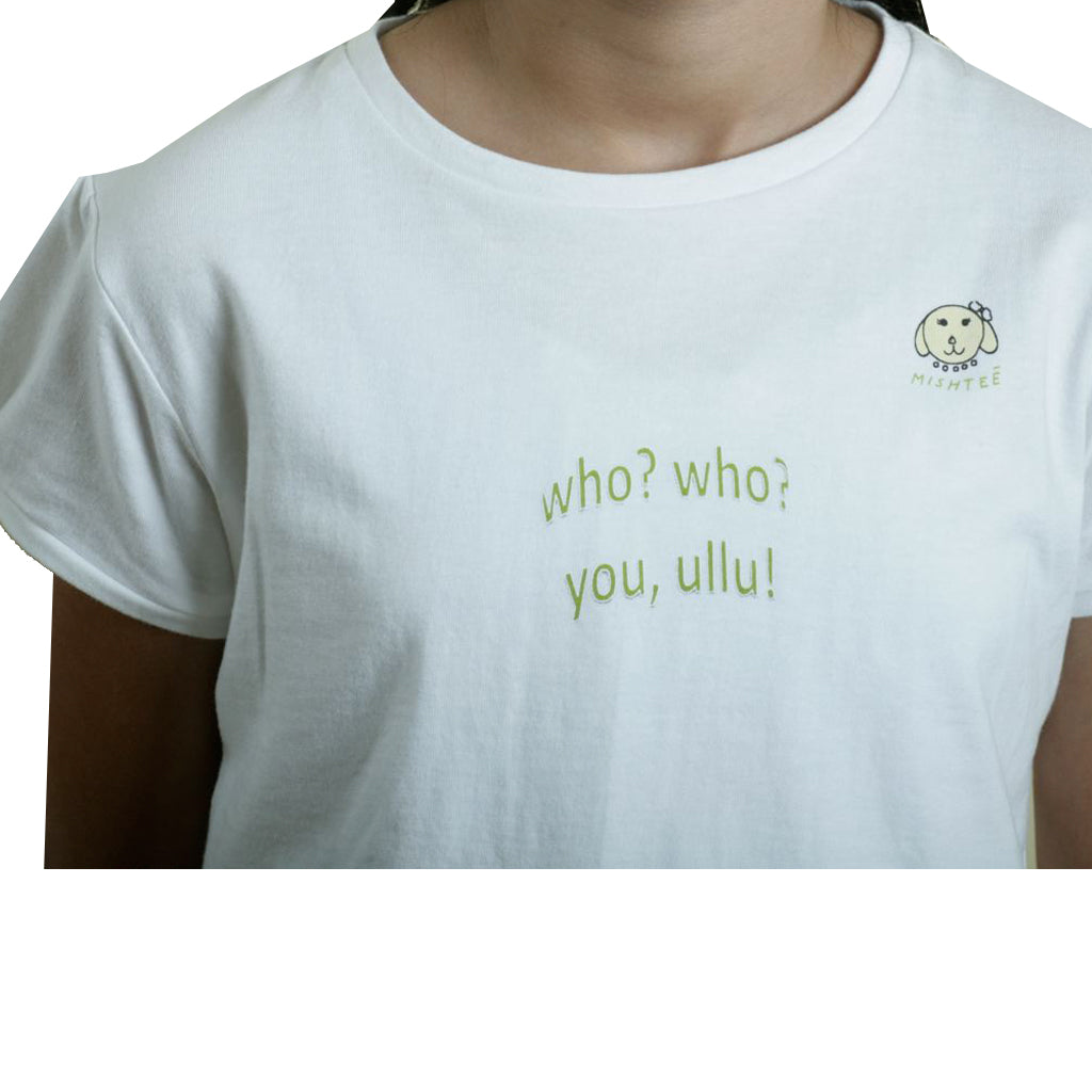 Om shanti girls white organic  cotton T-shirt - Shubrah