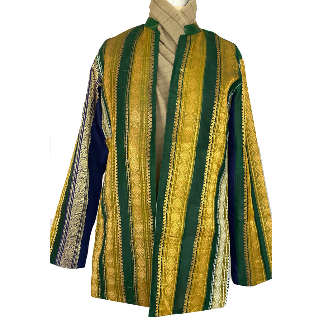 Hari Zari Silk Jacket with Upcycled Sari