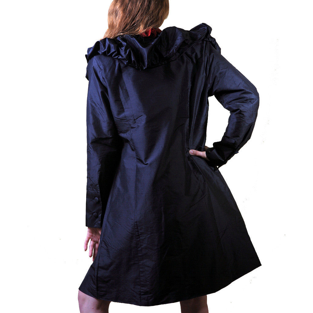 Kala Koyela Black Long Jacket - Shubrah
