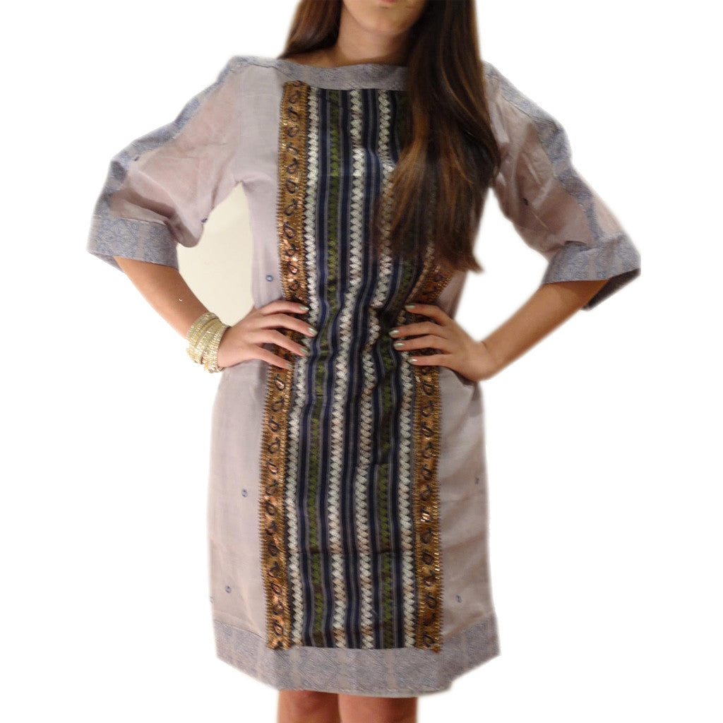 Mumbai Magic Boat Neck Dress - Shubrah