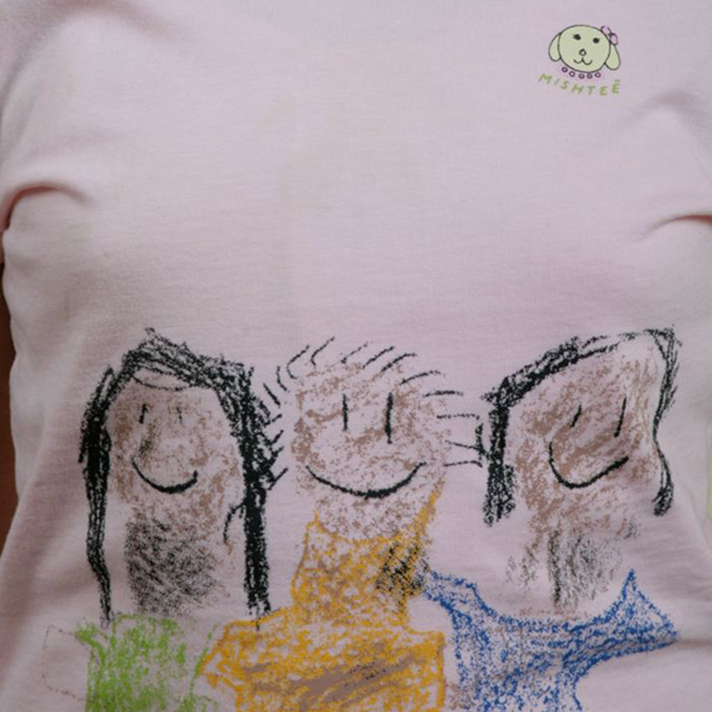 Pink Girls Organic Cotton Friends Tee - Shubrah