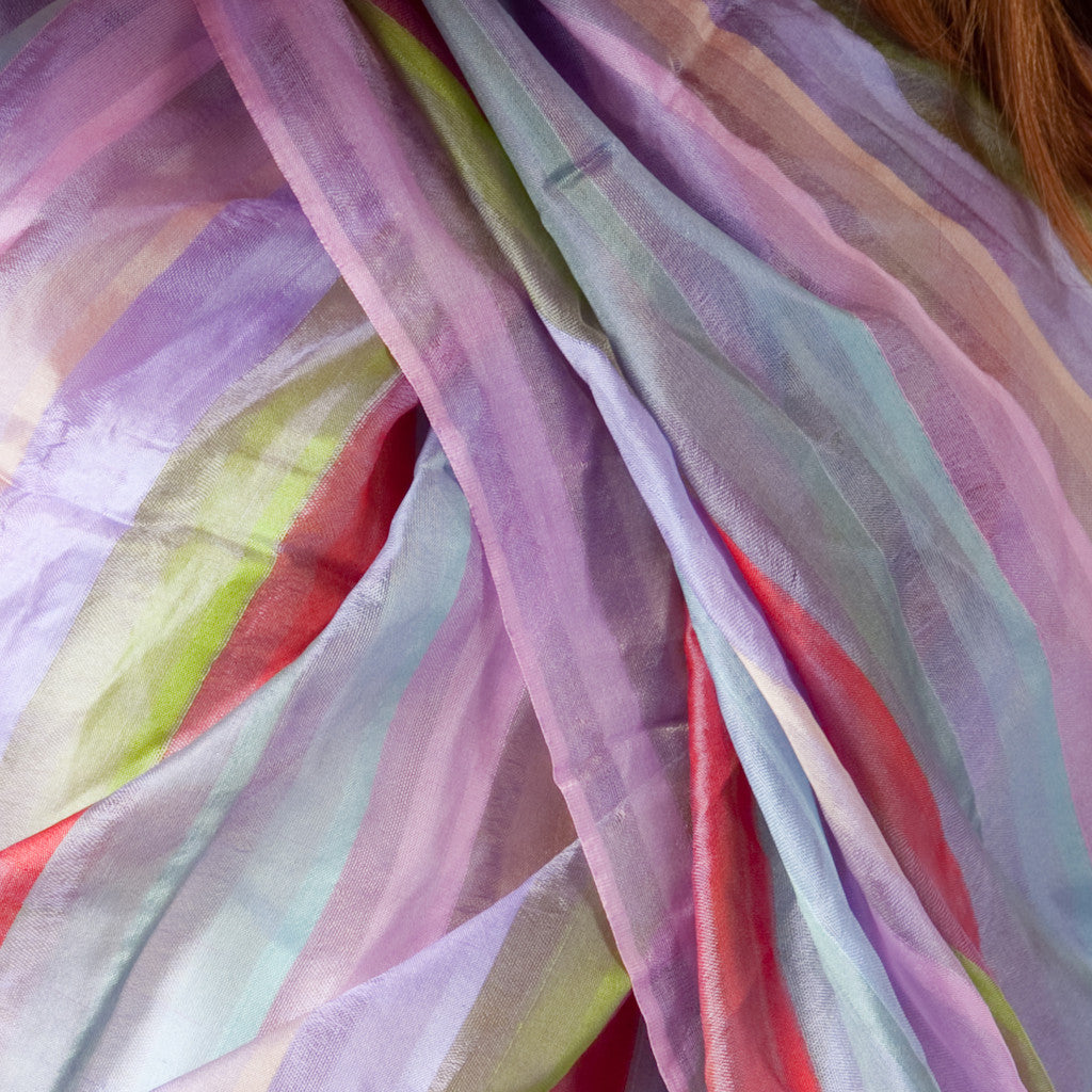 Spring is in the Air Stripe Silk Scarf - Shubrah