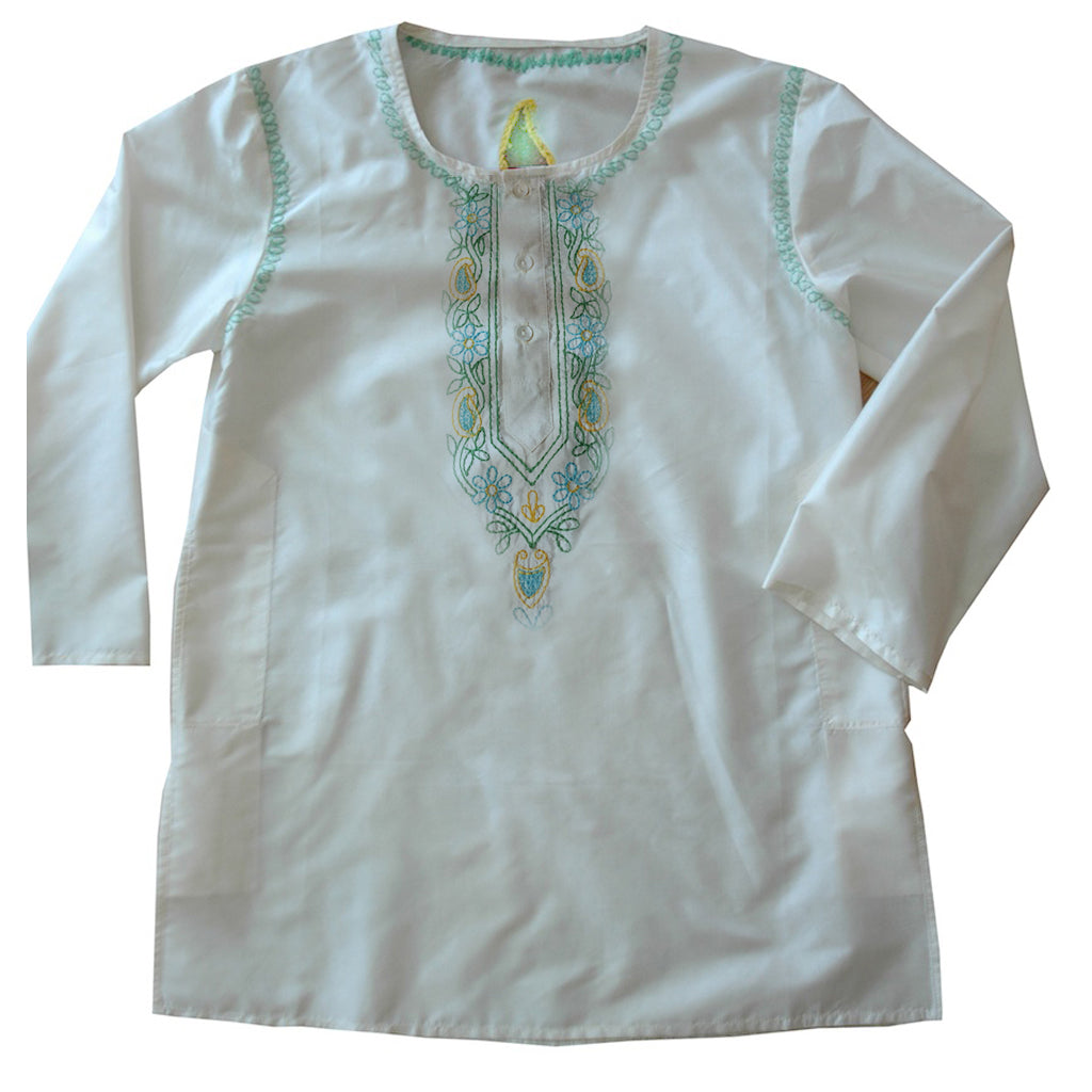 Cream Silk Kids' Kurta shirt - Shubrah
