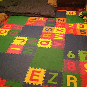 SoftTiles Alphabet Mat Used To Create A Cushioned Children's Playroom- D125