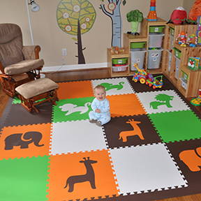 Playroom Ideas: SoftTiles Safari Animals make your child's playroom special!- D151