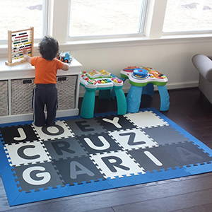 SoftTiles Custom Name Play Mat- Spell Your Child's Name In Your Playroom Floor- D174