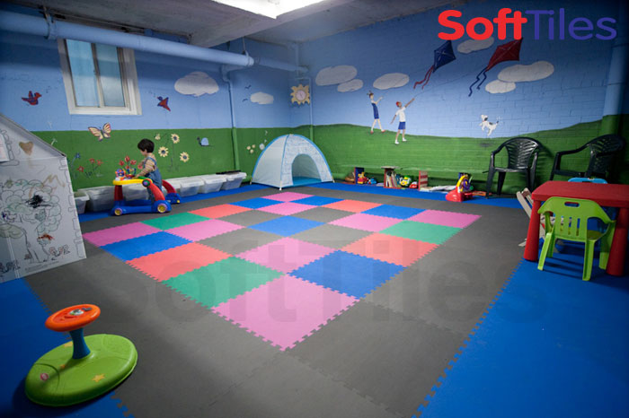 SoftTiles For Basements Flooring
