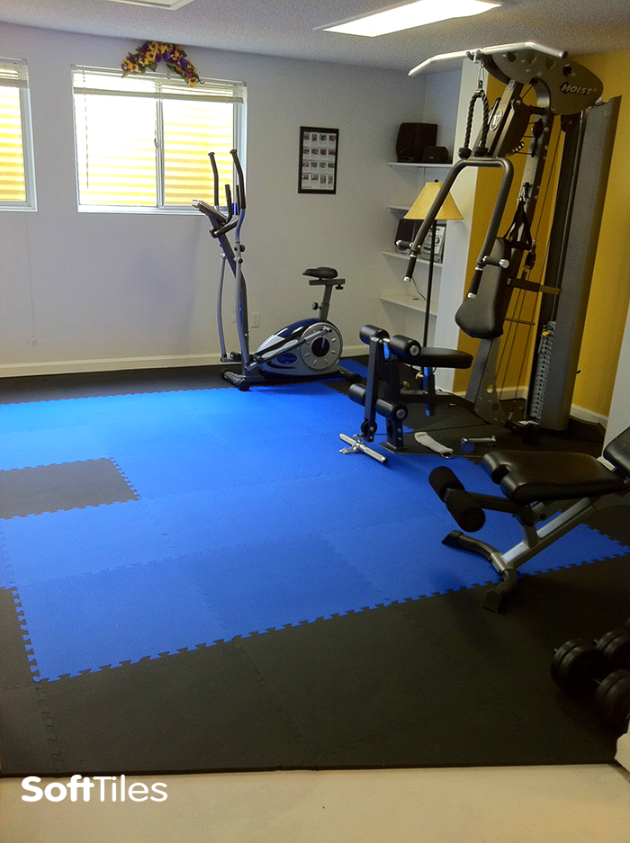Home Gym Floor Mats Interlocking Gym Mats Softtiles