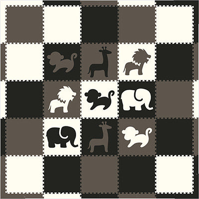 SoftTiles Black Gray and White Play Mat