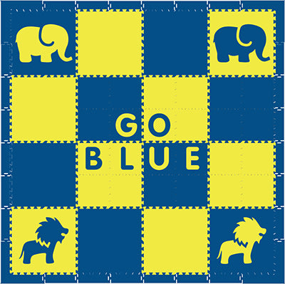 SoftTiles Alphabet Mats- Michigan Colors Go Blue